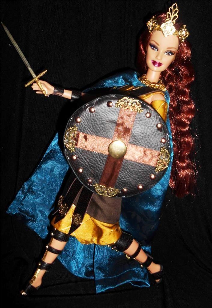 Boudica Boudicca Celtic Queen Barbie Doll OOAK Repaint Warrior Dakotas Song | eBay
