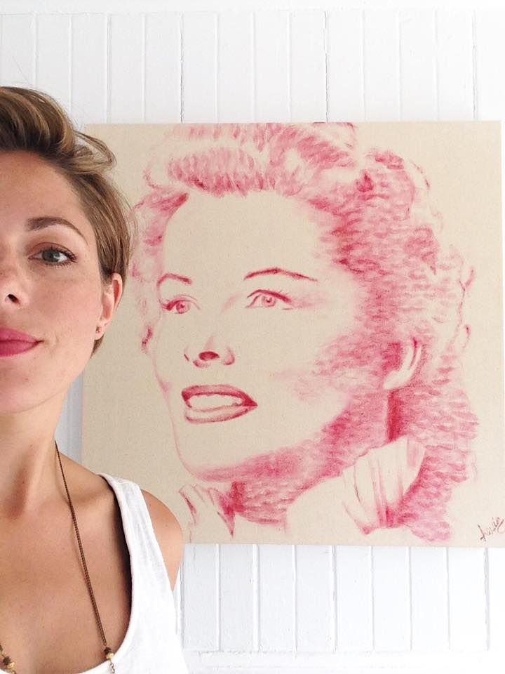 Alexis Fraser, a.k.a. Lipstick Lex, is a Canadian artist who specializes in creating portraits with her lipstick-covered lips.