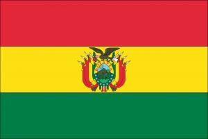 South America visa Bolivia flag