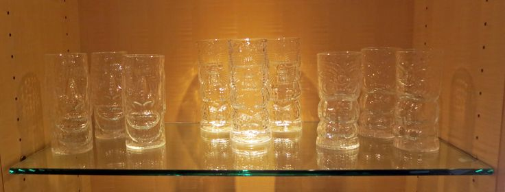 Tiki glasses by Andrew Iannazzi Glass Design | $35 each