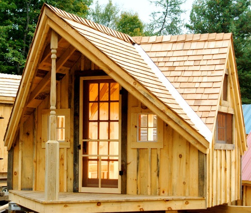Diy plans 12x14 writers haven storage shed art studio for Shed guest house kit