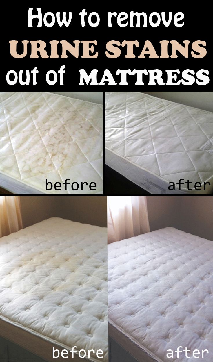 Learn how to remove urine stains out of mattress.