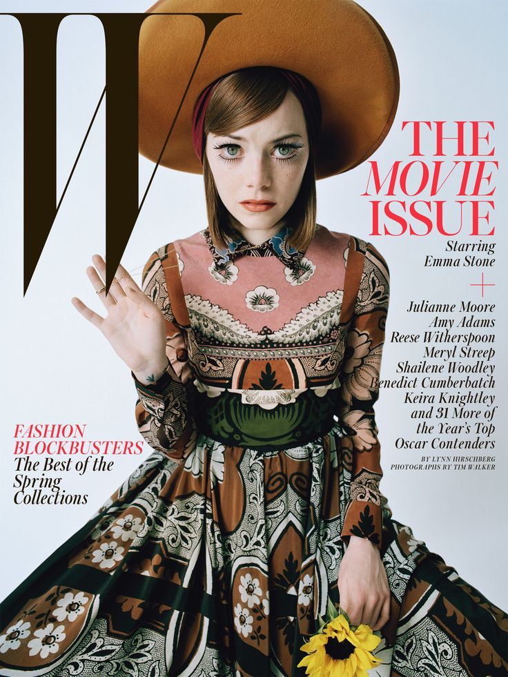 Best Performances February 2015: See All 7 W Magazine Covers - Emma Stone-Wmag