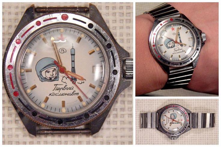 USSR Russian Vintage VOSTOK WOSTOK KOMANDIRSKIE First Astronaut Gagarin 1991 #Vostok #Military