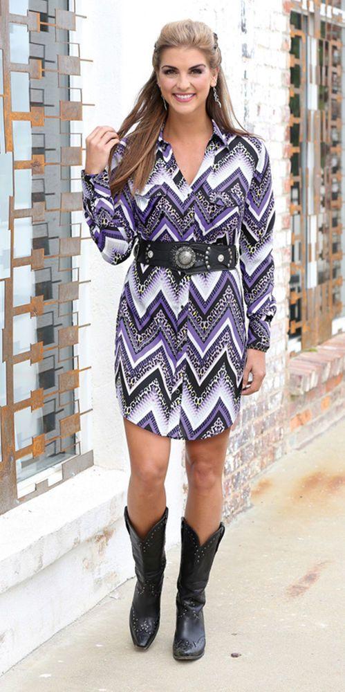 WRANGLER ROCK 47 Western CHEVRON Shirt DRESS Gypsy Tunic COWGIRL NWT SMALL #WRANGLERROCK47 #ShiFTDress