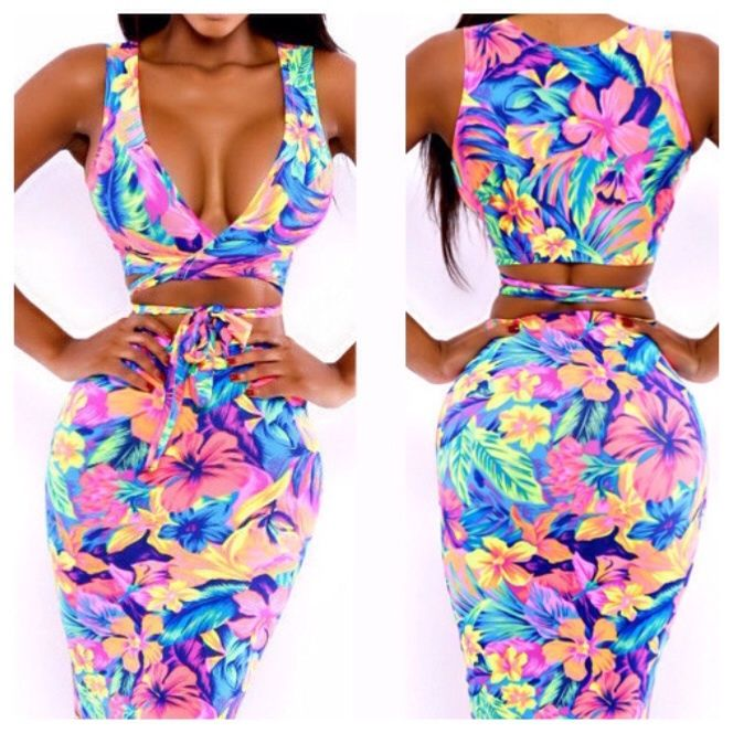 21 best luxxe looks boutique images on pinterest bandage dresses 2014 new fashion womens sleeveless sexy floral print dress 2 piece stretchy bodycon bandage dress women sexy novelty party dress sciox Choice Image