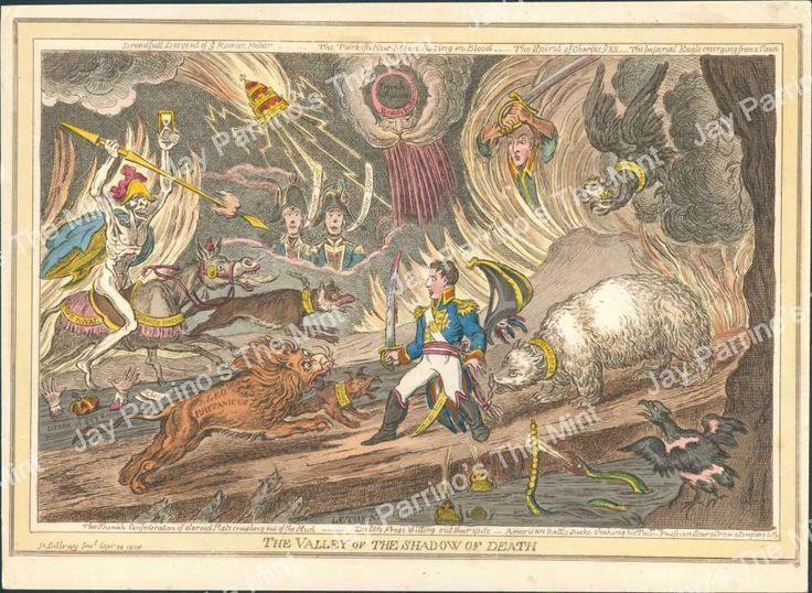 AJV-830 Antique Print Napoleon Bonaparte I - Valley of Shadow of Death | eBay