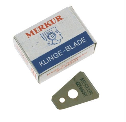 10 Merkur Blades for Mustache and Goatee Grooming Razor