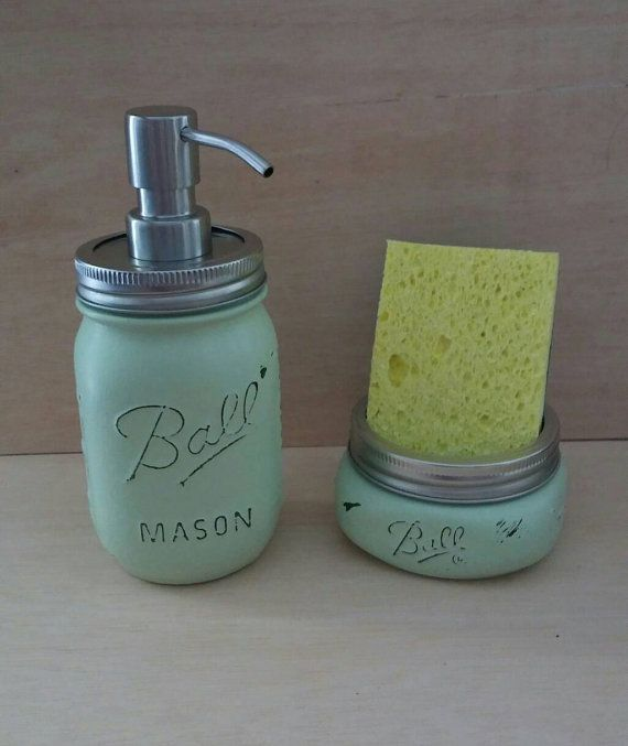 Kitchen Soap Dispenser And Sponge Holder
