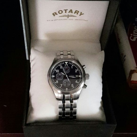 Gorgeous Rotary Men's Watch! Must have for the man in your life! Remember Fathers' Day! Brand new! Stainless steel. Used MK for visibility :) MK Jewelry