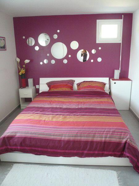 Chambre adulte prune et blanc deco pinterest - Deco chambre adulte gris et blanc ...