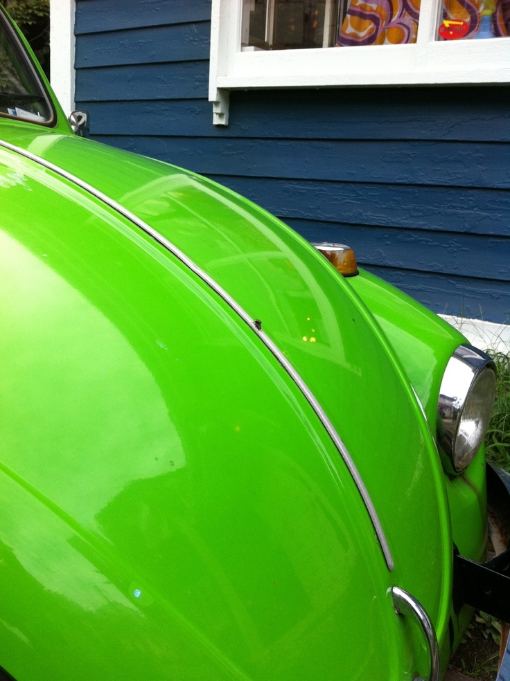 My first Car - Green 74 VW beetle