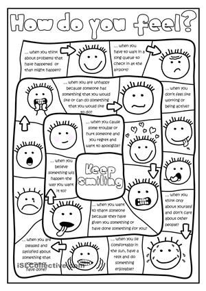 How do you feel? - board game worksheet - Free ESL printable worksheets made by teachers