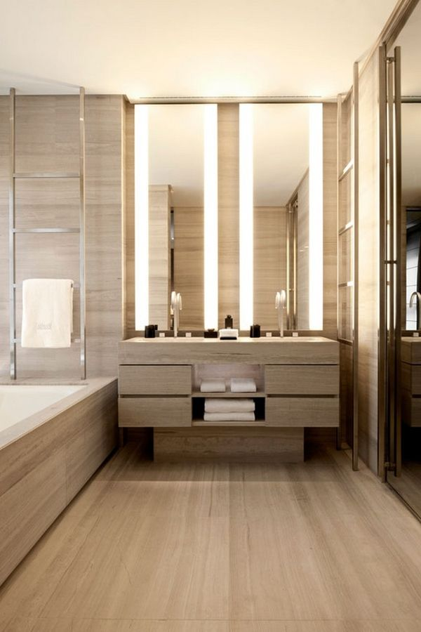 Radiant heated floors recommended for each bathroom and towel warmers for at least the master suite.