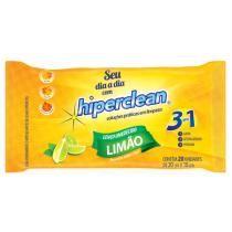 Lenço Umedecido HIPERCLEAN Limão com 20 Unidades