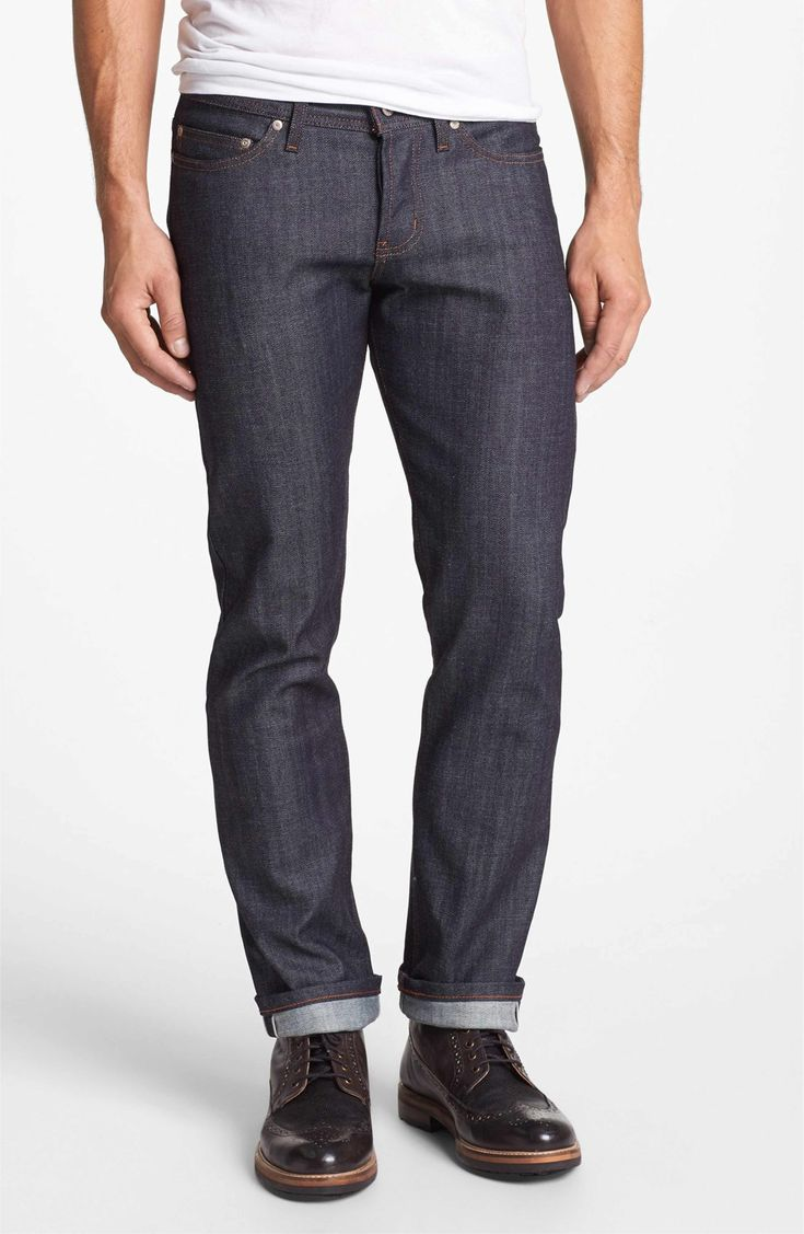 Main Image - Naked & Famous Denim Weird Guy Slim Fit Raw Jeans (Stretch Selvedge)