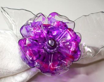 Rainbow Flower Pin Upcycled Plastic Colorful by ArtePlastique