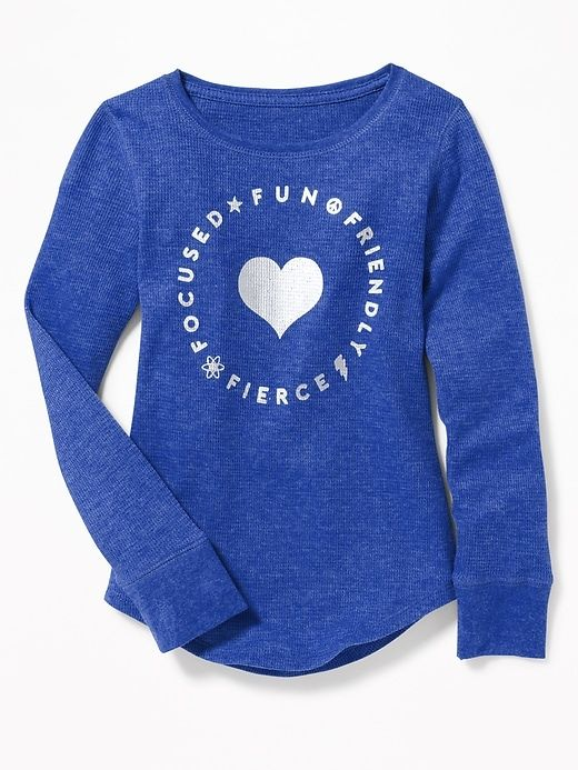 2e0cd72d Thermal-Knit Scoop-Neck Tee for Girls | APPAREL-GIRL | Girls tees, Scoop  neck, Old navy