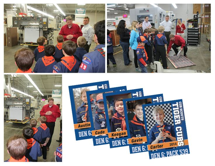 Cub Scouts Touring the Wallace-Carlson Printing Facility. Schedule your tour today. www.wallacecarlson.com