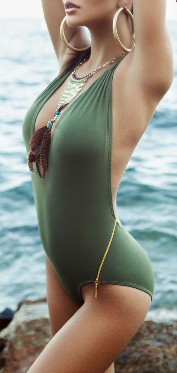 Side Zip Swimsuit