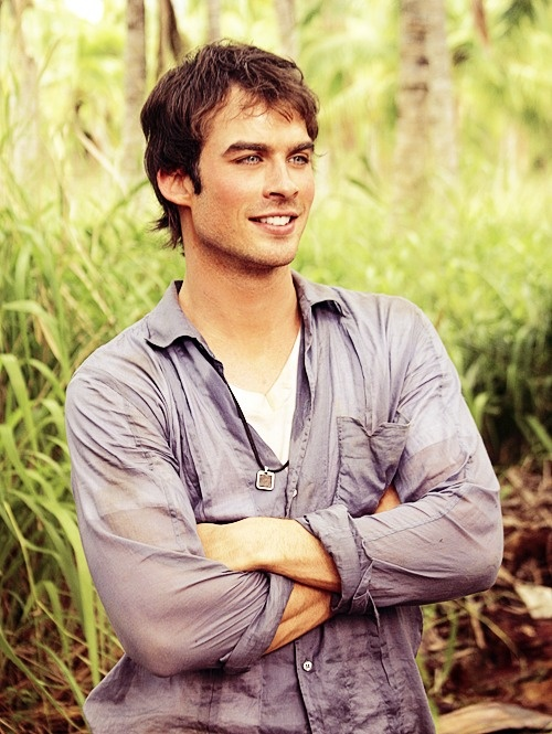 Ian Somerhalder mhmmm. I am currently watching Lost season 1. He plays boone and he is such a sweetie. Course I love him as damon in VD as well.