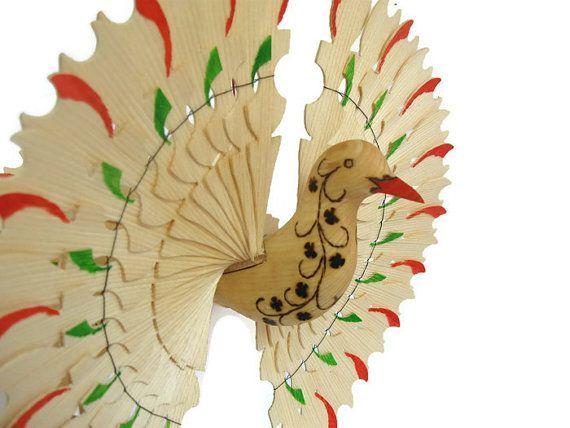 Carved Bird Mobile 5th Anniversary Gift Wedding Bird by MyFanbirds