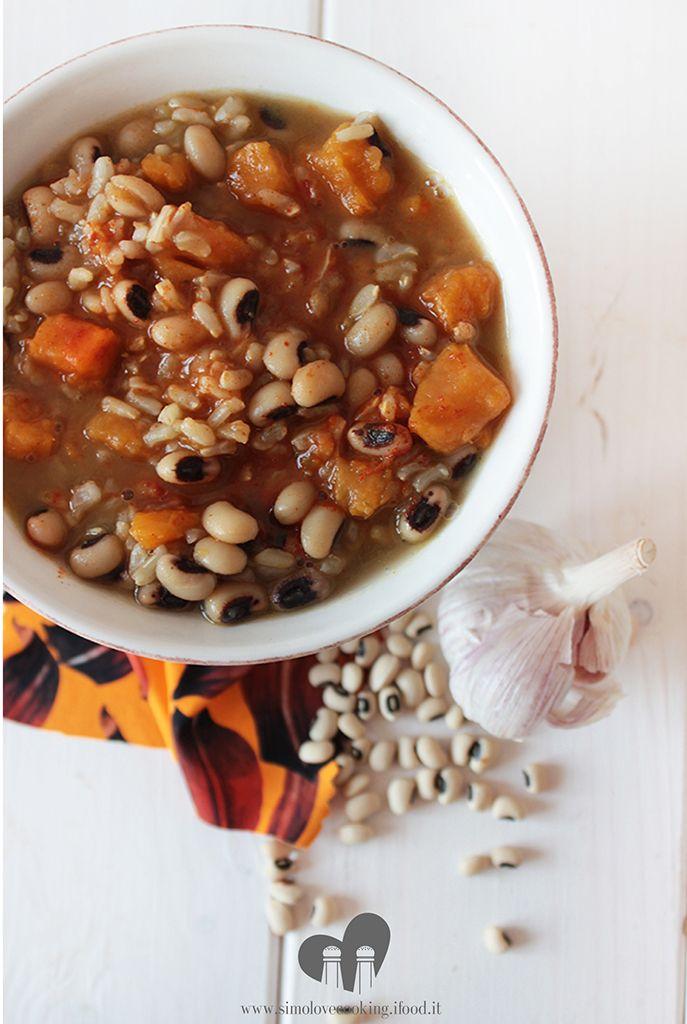 zuppa fagioli patate dolci paprika