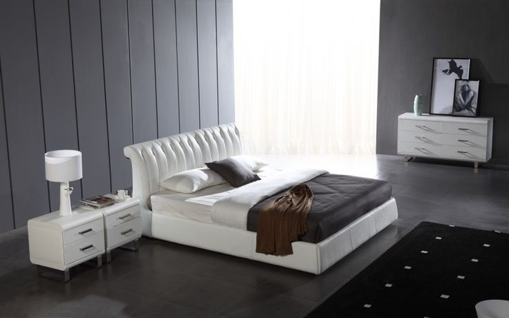 Carolina Leather Bed  The Carolina Leather Bed is a stunning design with great proportions to fit in any bedroom.  A perfectly balanced design with hints of both Traditional and Modern elements