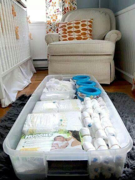 Keep a tub of supplies