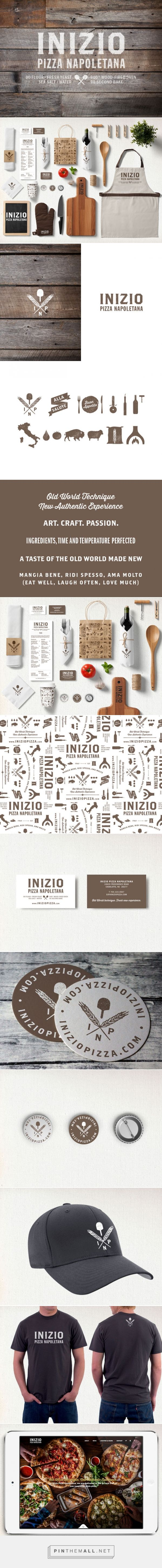 Inizio Pizza branding, logo design, packaging, marketing collateral and website design by Rachel Martin Design