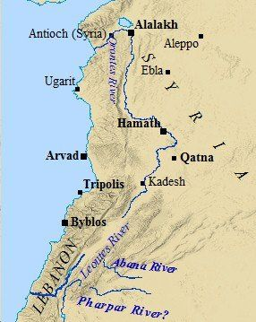 Map of Ugarit and surrounding cities