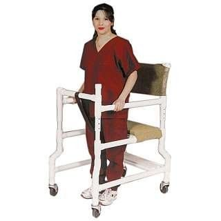 """Ambulatory Walker 4"""" Casters TAN - 3"""" CASTERS - MESH by Mjm International Corp. $209.00. Allows residents to ambulate safely.. Heavy-duty casters provide added weight, for better balance.. Unique frictionless locking security gate system.. Seat Height: 21"""".. Height adjustable from 32½"""" to 35½"""".. Bridges the gap between wheelchair and walker - aids in walking and provides a seat for rest."""