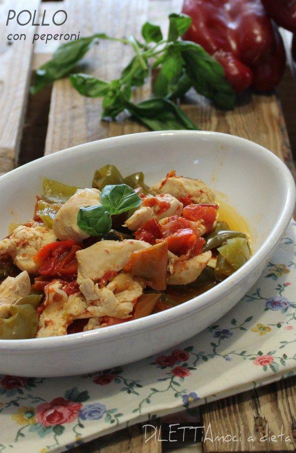 Pollo con peperoni, ricetta Dukan