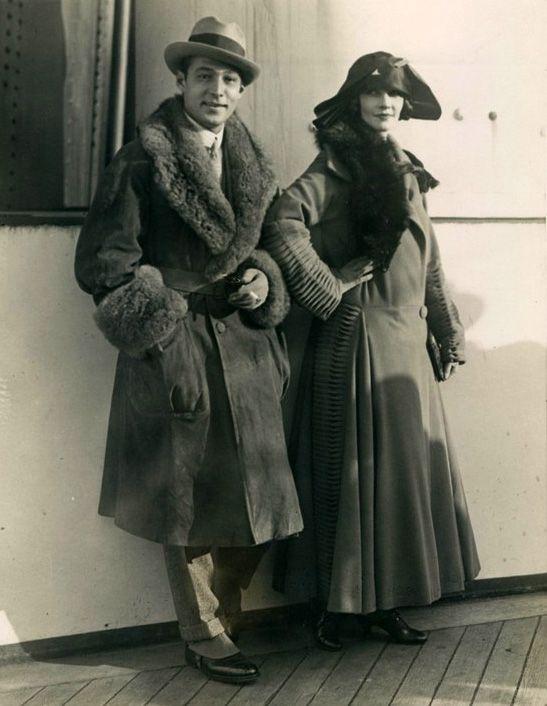 Rudolph Valentino, Natacha Rambova, 1920s. Via Valentino Vamp