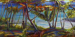 Trinidad Painting - Blanchisseuse Lahay by Cynthia McLean