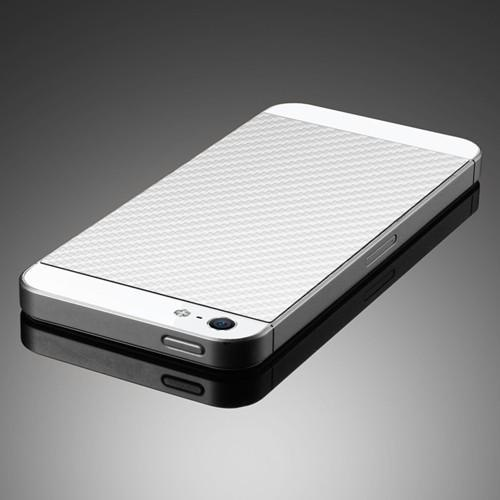Skin Guard iPhone 5 - textura Carbon alb de la SPIGEN SGP