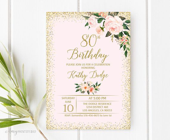 best 25  80th birthday invitations ideas on pinterest