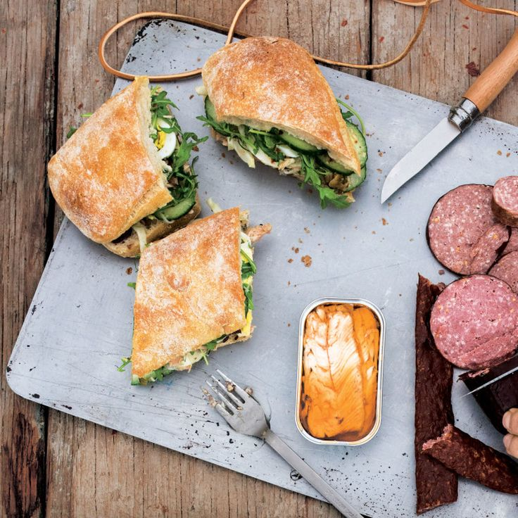 This sandwich gets better and better the longer it sits (okay, to a point); assemble it after breakfast and eat it when you've worked up an appetite.