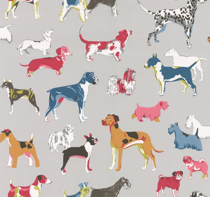 Jane Churchill Hot Dogs Grey Wallpaper main image