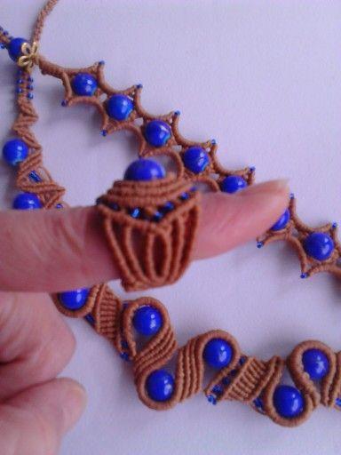 Macrame set with glass beads