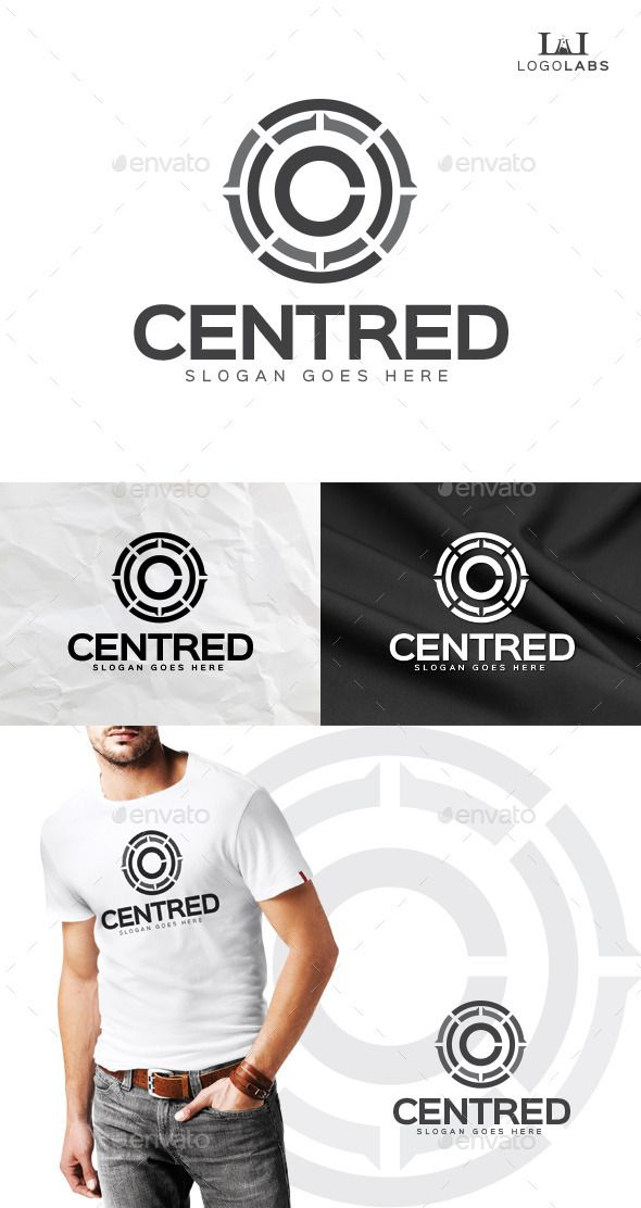 Centred  C Logo — Photoshop PSD #letter C #circle • Available here → https://graphicriver.net/item/centred-c-logo/10155304?ref=pxcr