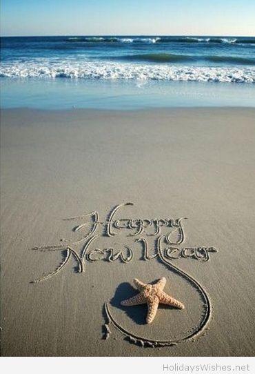 Happy new year 2015 sea image