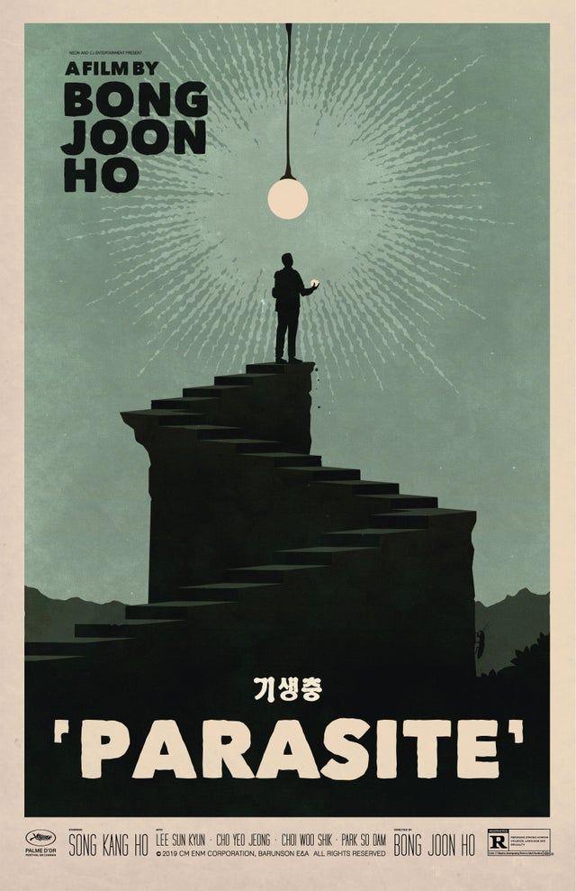 A Retro Inspired Poster For Parasite One Of My Favorite Films Of 2019 U Gorillaroni In 2020 Movie Prints Film Poster Design Retro Poster
