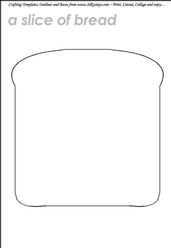 Search results for slice of bread template calendar 2015 for Sandwich template for writing