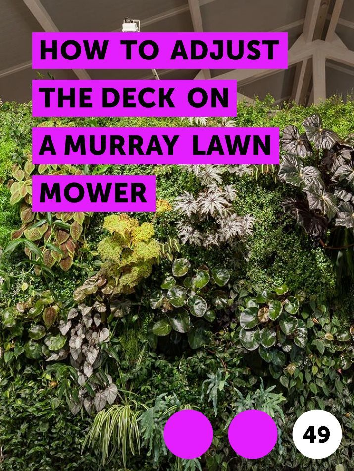 How to Adjust the Deck on a Murray Lawn Mower  A Murray