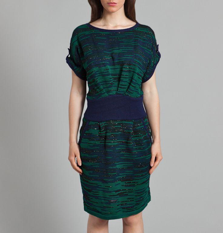 Knit dress from fall 13 at 109 boulevard Beaumarchais and online at http://erotokritos.lexception.com/en/woman/ready-to-wear/dress/1175207465-05ER-Mottled-Dress-Emerald