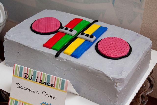 Yo Gabba Gabba boombox cake by kokocooks - Great idea!
