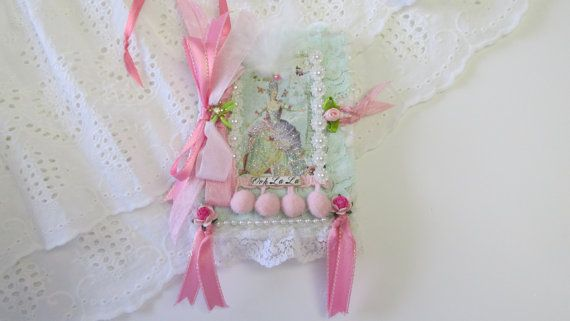 Marie Antoinette Lace Journal Fabric Book by underthenightmoon