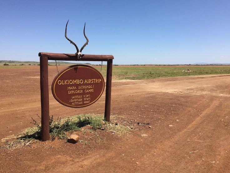 The Olkiombo airport on the Masaai Mara in Kenya.