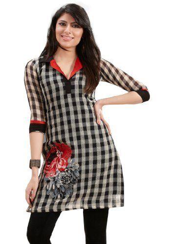 Stylish Indian Designer Wear Black Embroidery Kurti Fabdeal, http://www.amazon.co.uk/dp/B00HRV2GWA/ref=cm_sw_r_pi_dp_d7xmtb1VNAZAJ
